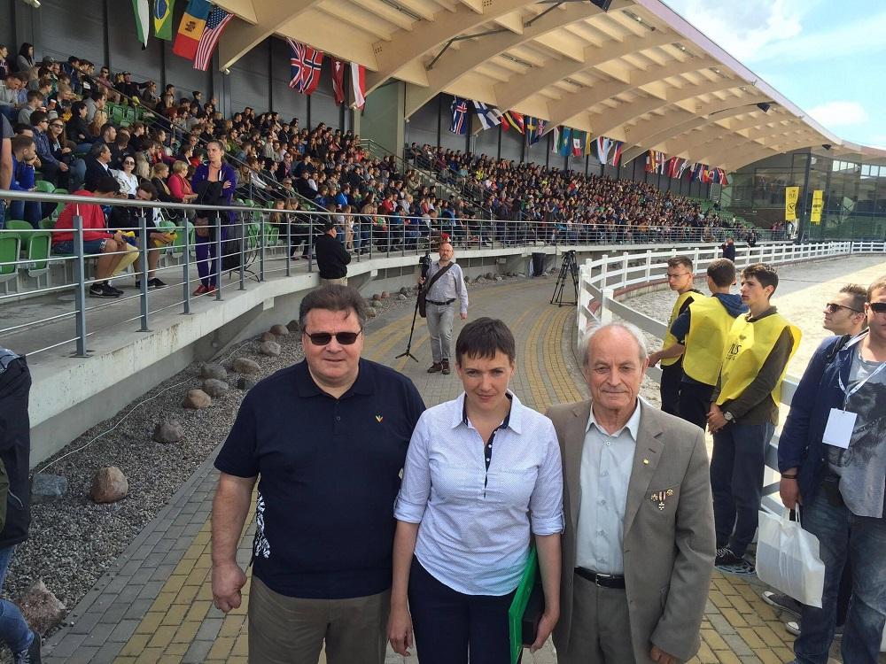 Nadija Savčenko susitiko su PLJS 2016 jaunimu