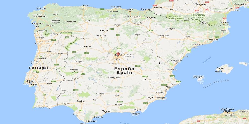 ispanija maps